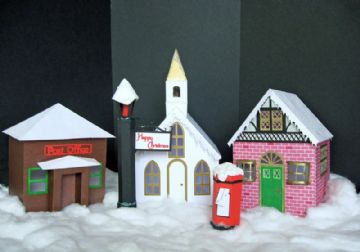Christmas Village Scene Templates